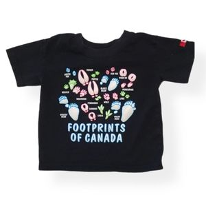 Footprints of Canada black T-shirt